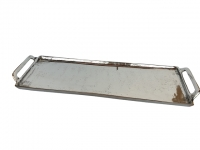 Langes Tablett, rechteckig mit Henkel