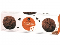 Cookies al Cacao e Pezzi di Cioccolato..