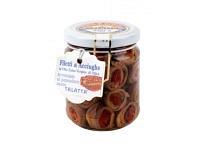 Sardellenfilets mit getrocknetenTomaten in extra vergine Olivenöl, gerollt 200g
